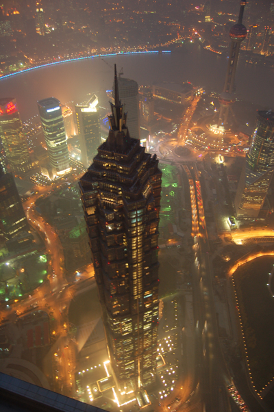 SWFC and Jin Mao Tower at Night