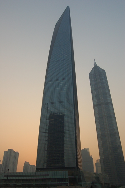 The Shanghai World Financial Center at Dusk