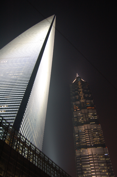 SWFC and Jin Mao Tower by Night