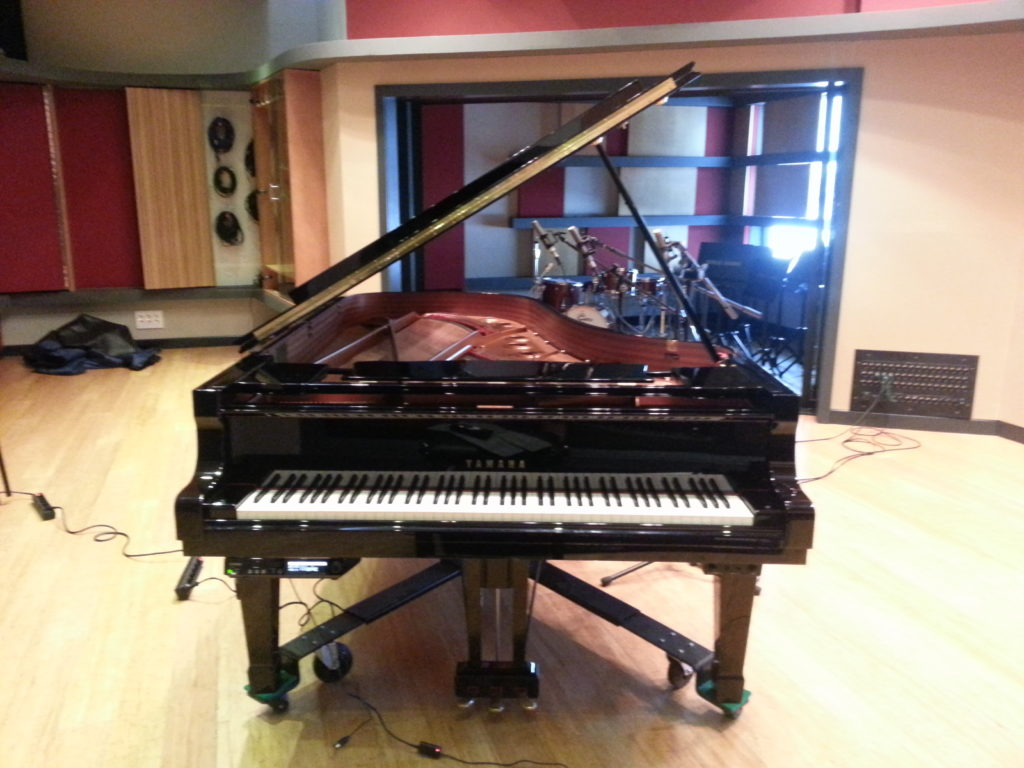 Recording the Disklavier on the Ann Kreis Scoring Stage