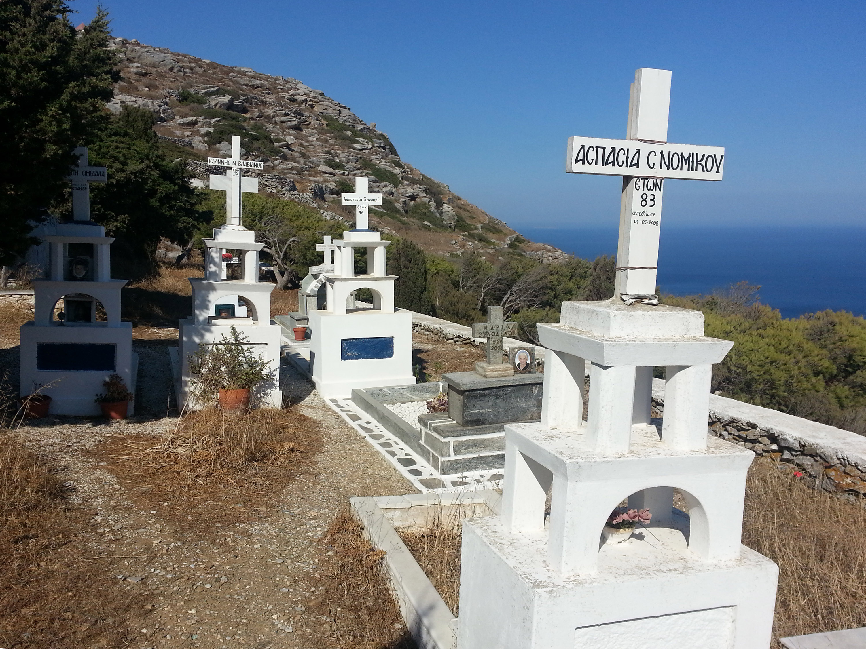 A cemetery on Amorgos