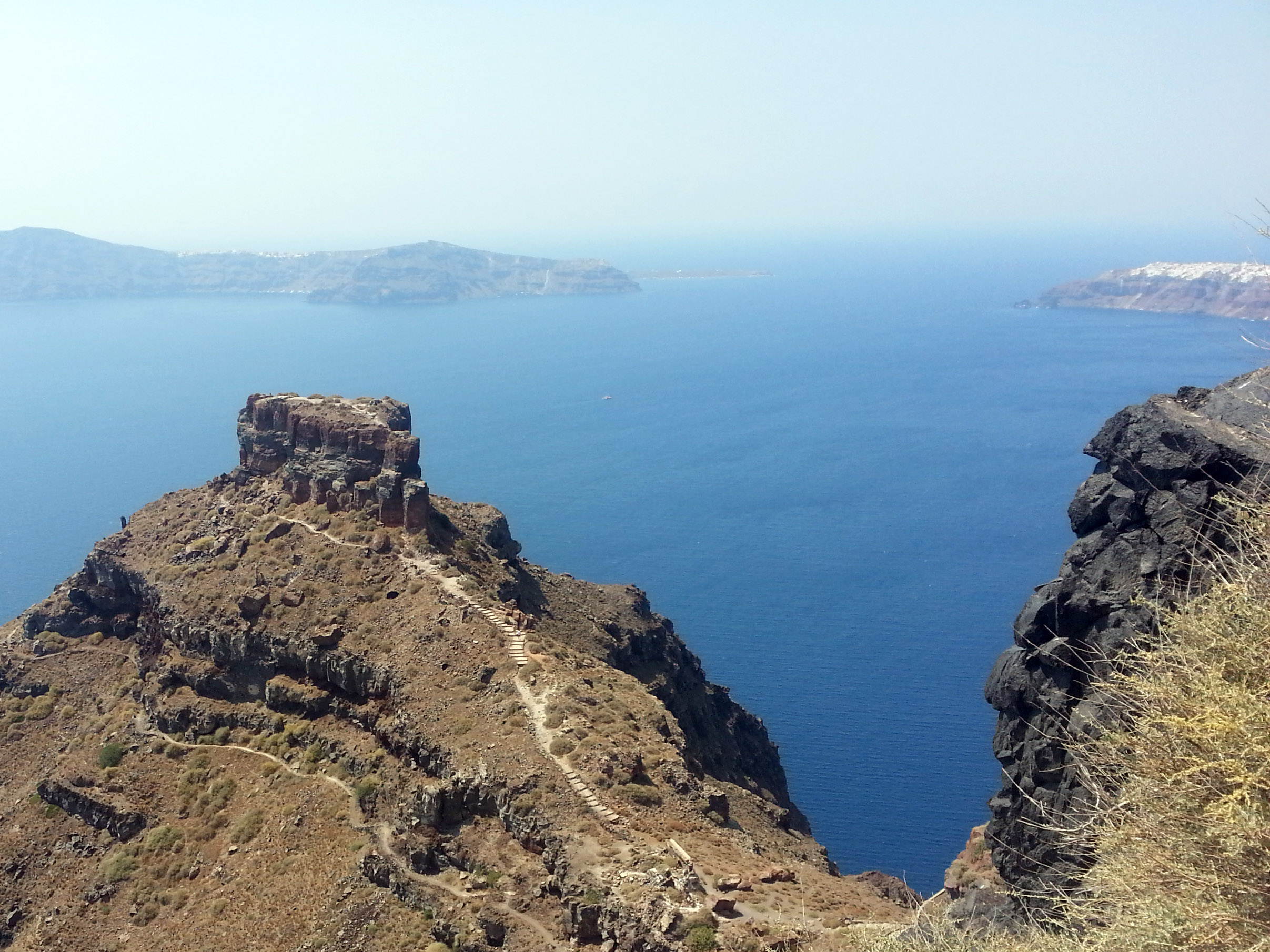 The caldera of Santorini. That's Oia off to the right.