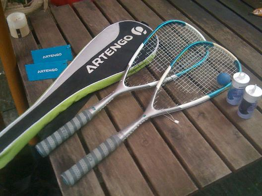 This squash paraphernalia could be yours!